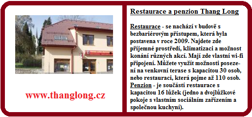 Restaurace a penzion Thang Long Chotěboř